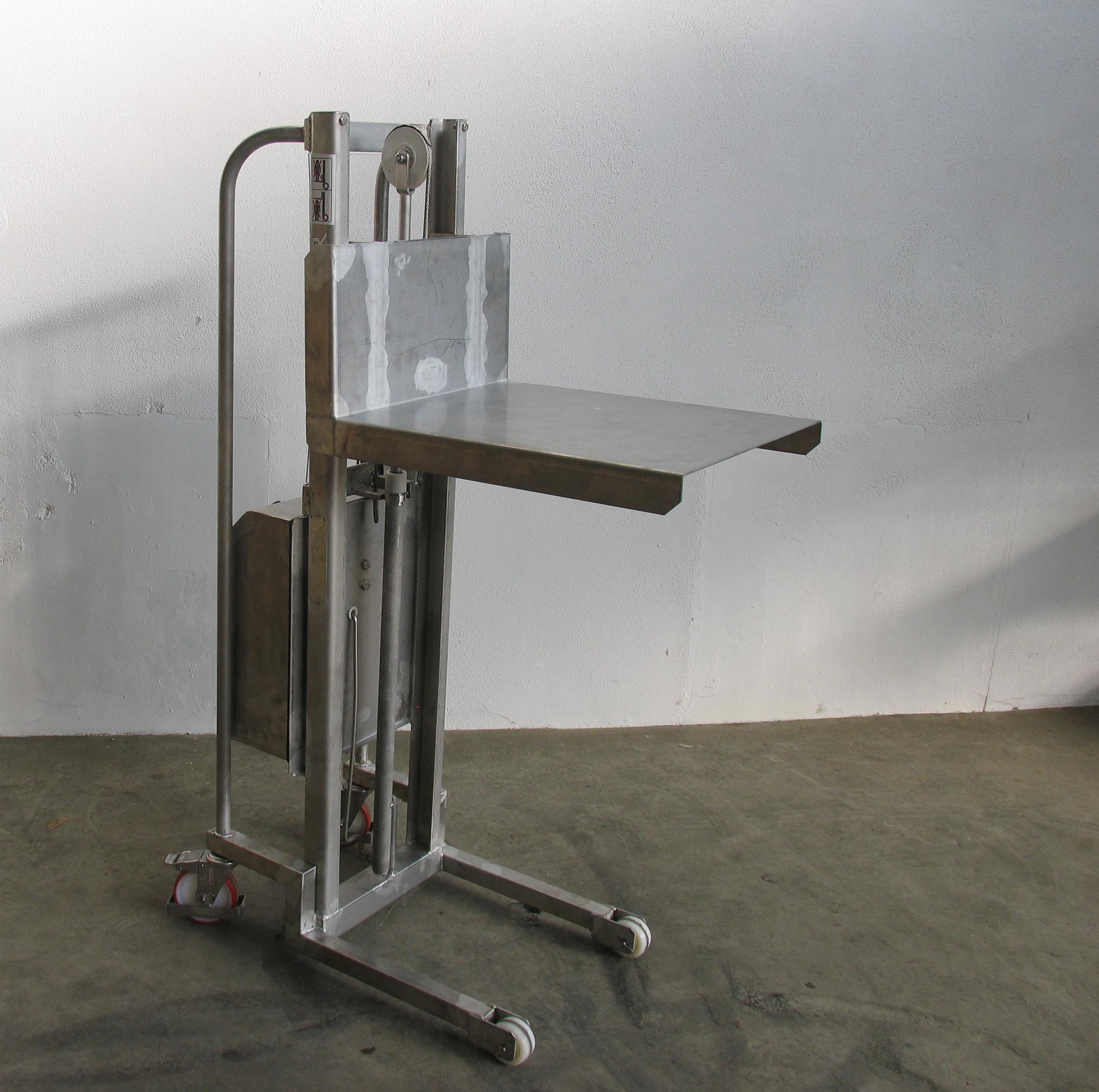 gerbeur semi lectrique inox plateau manusur. Black Bedroom Furniture Sets. Home Design Ideas